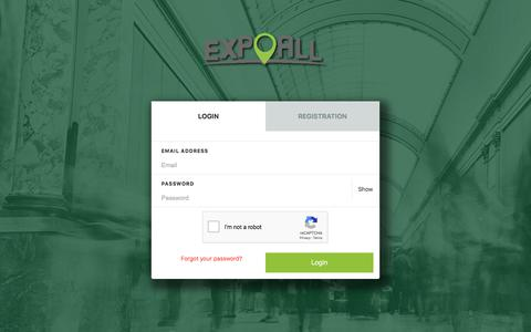 Screenshot of Login Page expoall.com - ExpoAll - captured July 15, 2018
