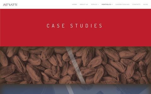 Screenshot of Case Studies Page a-tratti.com - Case Studies | ATratti | Agenzia Di Comunicazione e Pubblicità - captured Oct. 7, 2017