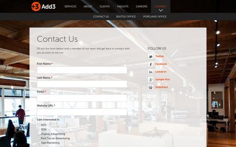 Contact Us - Add3.com