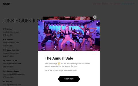 Screenshot of Contact Page 305fitness.com - Contact Us — ((305)) Fitness - captured Dec. 19, 2018