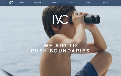 Screenshot of Home Page iyc.com - Home - IYC - captured Oct. 1, 2015
