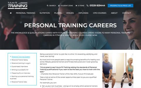 Screenshot of Jobs Page futurefit.co.uk - Personal Training Careers | Future Fit Training - captured Feb. 24, 2018