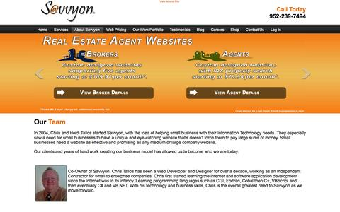 Screenshot of Team Page savvyon.com - Management Team - captured Oct. 3, 2014