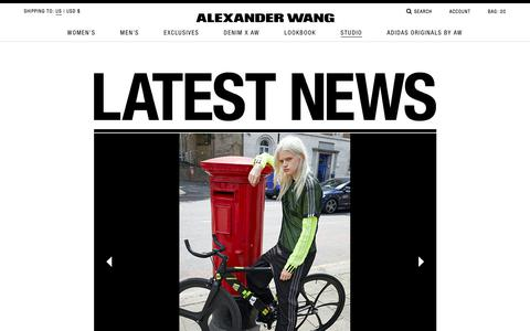 Latest News | Categories Studio | Alexander Wang