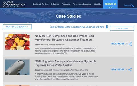 Screenshot of Case Studies Page dmpcorp.com - Case Studies: The DMP Success Stories   DMP Corporation - captured Oct. 7, 2018