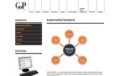 Screenshot of Products Page gapsolutions.com.au - Supermarket Solutions - GaP Solutions - captured Sept. 27, 2014