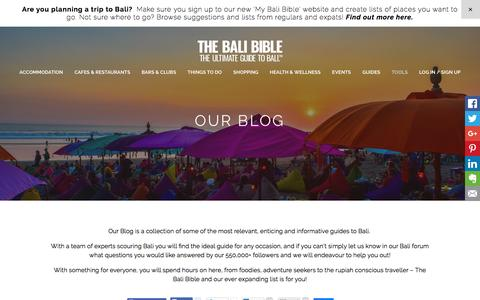 OUR BLOG - The Bali Bible