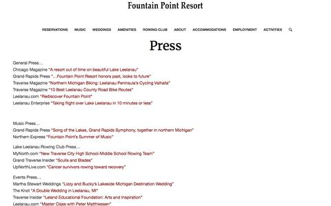 Press – Fountain Point Resort