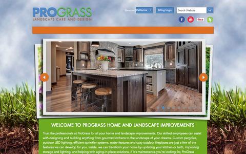 Screenshot of Home Page prograss.com - Prograss - Landscape Design, Build & Maintenance - captured Oct. 3, 2014