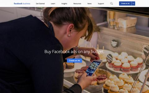 Screenshot of Pricing Page facebook.com - How Much Do Facebook Ads Cost? | Facebook Business - captured Dec. 17, 2018