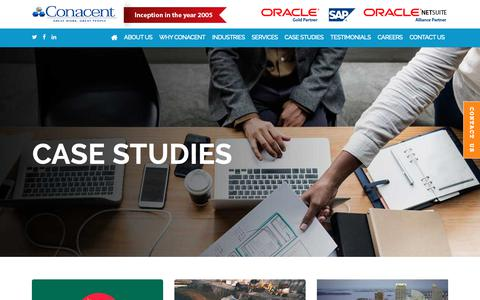 Screenshot of Case Studies Page conacent.com - Case Studies - conacent - captured Nov. 11, 2018