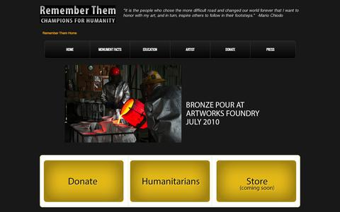 Screenshot of Home Page remember-them.org - Remember Them - captured Sept. 3, 2015