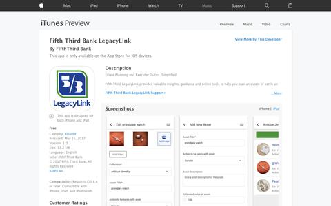 Fifth Third Bank LegacyLink on the App Store
