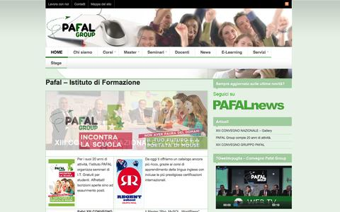 Screenshot of Home Page pafal.it - Pafal - Istituto di Formazione - PAFAL GROUP - captured Sept. 19, 2014