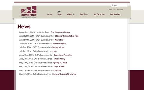 Screenshot of Press Page commerce-management.com - - Commerce Management Group - captured Oct. 2, 2014