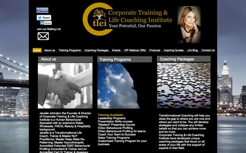 Screenshot of Home Page ctlci.com.au - Home - Corporate Training & LIfe Coaching Institute - captured Oct. 3, 2014