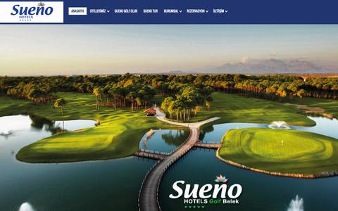 Screenshot of Home Page sueno.com.tr - Sueno Hotels | Antalya-Belek-Side Tatil - captured Aug. 13, 2015