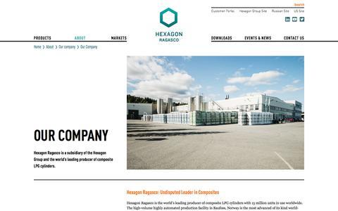 Screenshot of About Page hexagonragasco.com - Our Company - Hexagon Ragasco - captured Sept. 25, 2018