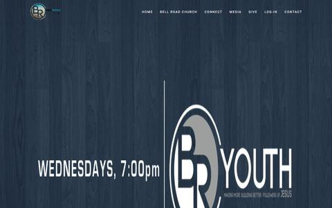 Screenshot of Home Page bellroadchurch.com - Bell Road Church - Welcome Home! - captured June 1, 2017