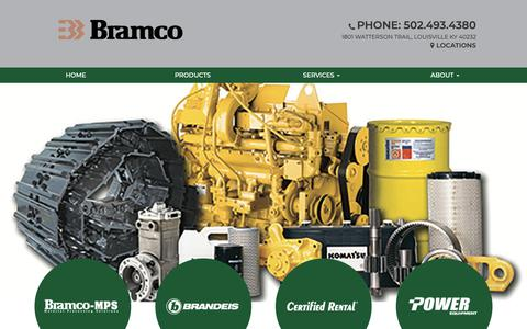 Screenshot of Home Page bramco.com - Bramco | Equipment sales in Louisville, KY - captured Nov. 6, 2018