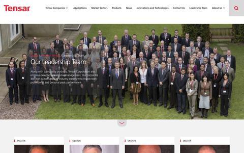 Screenshot of Team Page tensarcorporation.com - Our Leadership Team | Tensar International - captured Sept. 21, 2018