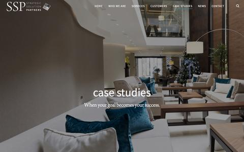 Screenshot of Case Studies Page strategicsolutionpartners.com - Case Studies Archive | Strategic Solution Partners - captured Sept. 9, 2017