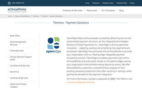 Partners - Payment Solutions - eClinicalWorks