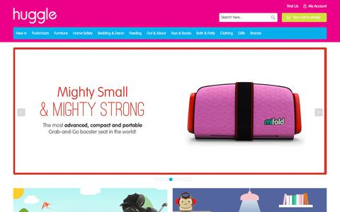 Screenshot of Home Page huggle.co.uk - The modern baby store | huggle - captured July 23, 2018