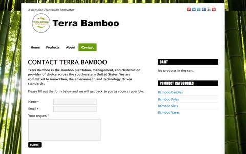 Screenshot of Contact Page terrabamboo.com - Contact Terra Bamboo - Terra Bamboo - captured Oct. 26, 2014