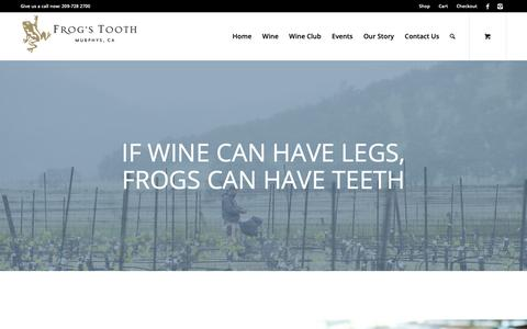 Screenshot of About Page frogstooth.com - Our Story - Frogs Tooth - captured Oct. 11, 2018