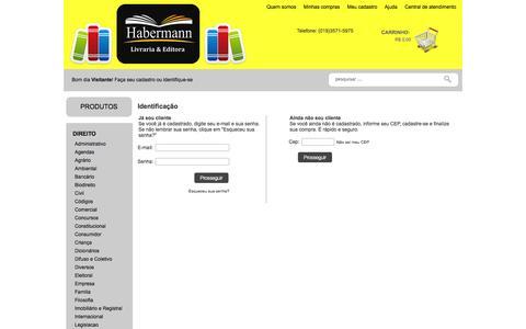 Screenshot of Login Page lojamestre.com.br - Habermann Editora - captured Oct. 22, 2014