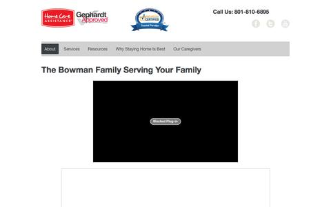 Screenshot of About Page hcautah.com - The Bowman Family Serving Your Family - captured Jan. 31, 2016