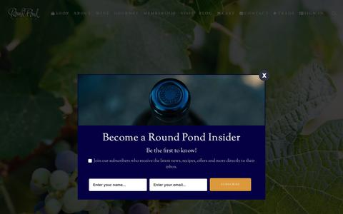 Screenshot of About Page roundpond.com - About - Round Pond Estate - captured Nov. 24, 2019