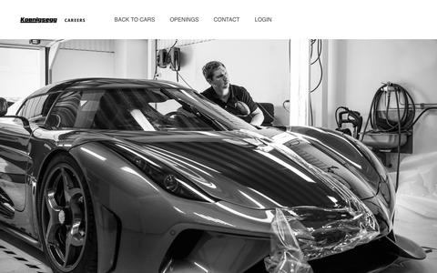 Start a career at Koenigsegg - Koenigsegg Careers