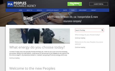 Screenshot of Blog peoples-insurance.com - Peoples Insurance Agency | Blog - captured Sept. 27, 2018