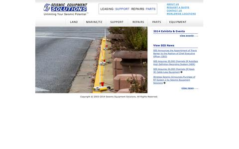 Screenshot of Home Page globalses.com - Seismic Equipment Solutions - Unlimiting Your Seismic Potential - captured Oct. 4, 2014