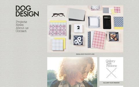 Screenshot of Home Page dogdesign.fi - Dog Design - captured Sept. 30, 2014