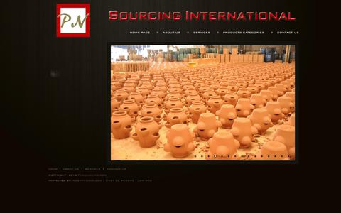 Screenshot of Home Page pnsourcing.com - PN SOURCING INTERNATIONAL LTD - captured Oct. 1, 2014