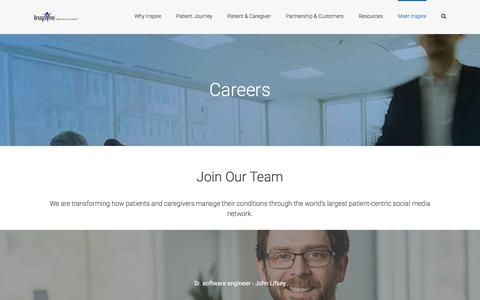 Screenshot of Jobs Page inspire.com - INSPIRE Careers | Job Opportunities to Start Leading the Life You Should - captured June 7, 2017