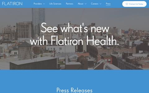 Screenshot of Press Page flatiron.com - Flatiron - captured Feb. 5, 2016