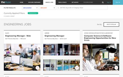 Search  Engineering Jobs  | The Muse