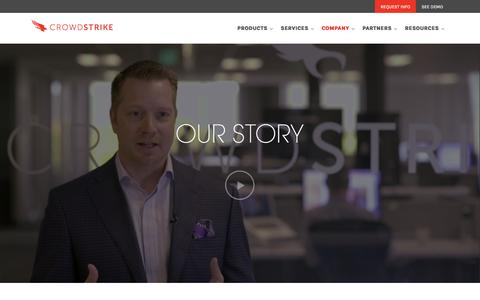 Screenshot of About Page crowdstrike.com - Learn More About Us, CrowdStrike Endpoint Protection - captured Nov. 23, 2015