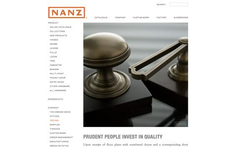 Screenshot of Pricing Page nanz.com - Pricing | The Nanz Company - captured Feb. 27, 2016