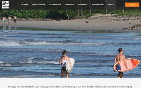 Screenshot of About Page safarisurfschool.com - About Us - Safari Surf School - captured Oct. 1, 2018