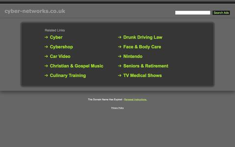 Screenshot of Home Page cyber-networks.co.uk - Cyber-Networks.co.uk - captured Feb. 2, 2016
