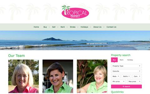 Screenshot of About Page Team Page tropicalproperty.com.au - Consultants - Tropical Property - captured April 24, 2016