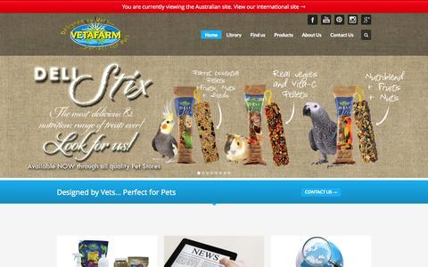 Screenshot of Home Page vetafarm.com.au - Vetafarm - Designed by Vets...Perfect for Pets - captured Sept. 30, 2014