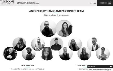 Screenshot of Team Page agencewebcom.com - Agence WECOM Paris - A dynamic team - captured May 29, 2017
