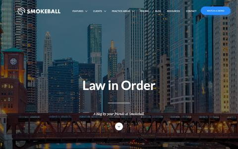 Law in Order - The Smokeball Blog | Smokeball Legal Case Management