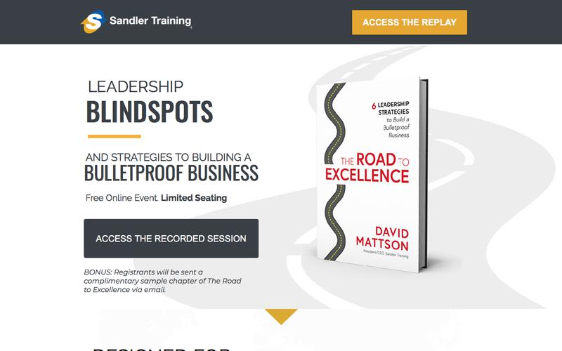 Free Online Event - The Road To Excellence